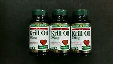 (3)Nature's Bounty Red Krill Oil 500 mg Softgels, 30 ct ea. - Exp 01/2018