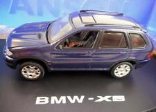 """MISSING SIDE MIRROR"" ANSON BMW X5 BLUE SUV #80808 1/43 Diecast CAR N29"