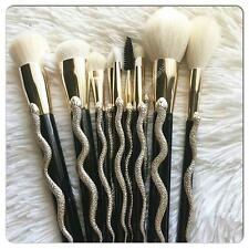 SONIA KASHUK SERPENT BRUSH SET 10 PC BLACK GOLD SNAKE LIMITED EDITION NEW IN BOX