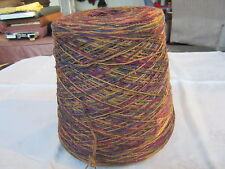 Multicolor cone yarn-Carry-along-Fingering weight-Cotton Blend(?)-New-Vintage