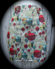Hot Air Balloon Mini falda tamaño 12 14-Bodycon Fox Dibujos animados Animales Vintage