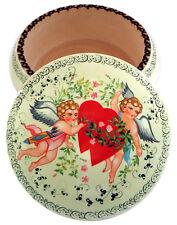 Anges Boîte décorative, Boîte bois peint motif Anges Artisanat Russe St Valentin