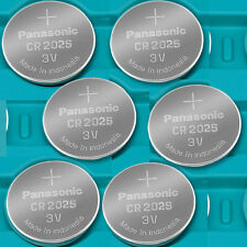 6 NEW PANASONIC CR2025 ECR 2025 Batteries 3V Exp.2025