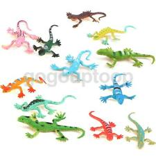 12 Plastic Lizard Gecko Reptiles Animal Figures Kids Party Bag Fillers Toy
