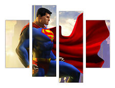 "EXTRA LARGE CANVAS PRINTS DC SUPERMAN WALL ART 35""(90cm) XXL PICTURES PHOTOS"
