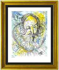 "Salvador Dali Signed & Hand-Numbered Ltd Edition ""Cervantes "" Lithograph Print"