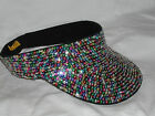 GLITTERING MULTI COLOR SEQUIN VISOR GOLF GARDEN SUNDRESS MATCHES ALL OUTFITS NEW