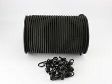 8mm Expanderseil schwarz 20m + 20 Spiralhaken Gummiseil Expanderseile Haken