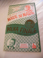 Partition Marie se Marie A Boccoz Polka Finale Robert Trabucco