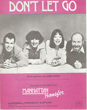 Don't Let Go - Manhattan Transfer - 1976 Sheet Music