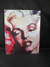 """Metal Tin Picture Sign Marilyn Monroe Close Up Texture looks like a painting 14"""""""
