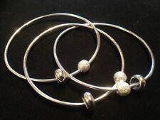 silver multi link strand banglewith balls and loops handmade new 2015 stunning