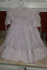 Strasburg Heirloom Collection 24 month Pink Dress with Ribbons, Easter Dress