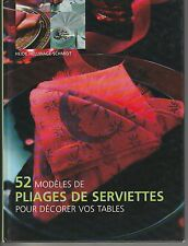 52 modèles de pliages de serviettes Heide HELLWAGE-SCHMIDT