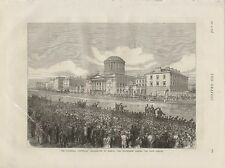 1875 O'CONNELL CENTENARY CELEBRATION DUBLIN PROCESSION PASSING THE FOUR COURTS