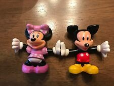 """MICKEY MOUSE MINNIE MOUSE STACKABLE HANDSTAND PVC FIGURES 2.5"""" (7)"""