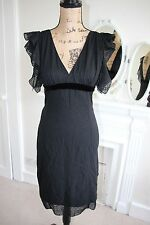 BNWT Ungaro Black Silk Heart Midi Dress UK 10 RRP £430 -70% off!