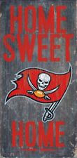"Tampa Bay Buccaneers Home Sweet Home Wood Sign 12"" x 6"" [NEW] NFL Man Cave Wall"