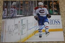 Brandon Gallagher signed 11x14 photo Montreal Canadiens COA
