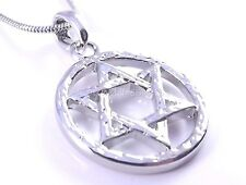 Star Of David Magen Judaica Necklace Pendant Kabbalah Jewelry Silver Israel New