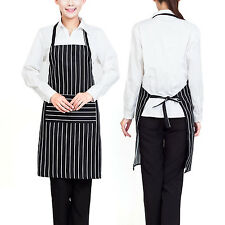 Chosen Men Women Solid Cooking Kitchen Restaurant Bib Apron Dress with Pocket