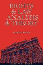 RIGHTS AND LAW, ANALYSIS AND THEORY - NEW PAPERBACK BOOK