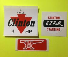 Clinton engine decal set  4 Cycle 4-hp E-Z Pull Anvil Set 3