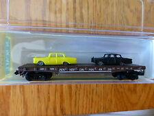 Model Power N #4011 (Rd #474200) Flatcar w/Autos -- Pennsylvania Railroad