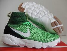 NIKE AIR FOOTSCAPE MAGISTA FLYKNIT POISON GREEN-RED-BLACK SZ 9 [816560-300]