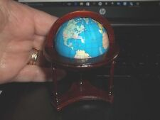 GLOBE IN A  WOODEN STAND FOR THE FLOOR - DOLL HOUSE MINIATURE