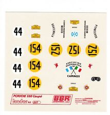 BBR Decal LE07 Porsche 550 Coupe Nr44,154,152 Scale 1/43 IV Carrera Panamericana
