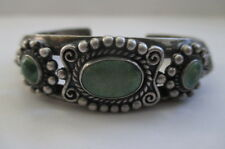Vintage Navajo Indian Turquoise Sterling Silver Cuff Bracelet