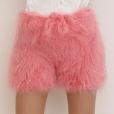 SUPERTANYA PINK Hand Knitted Mohair Underwear Fuzzy Pants Handmade Shorts SALE