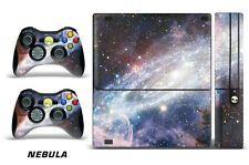 Skin Decal Wrap for Xbox 360 E Gaming Console & Controller Sticker Design NEBULA