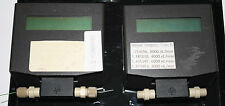 Pair of Upchurch N565 flow meters, damaged, but all electronics functional