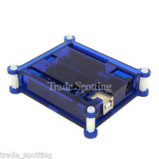 Clear Acrylic Box Enclosure Gloss Transparent Blue Case Box For Arduino Uno R3