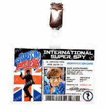 Austin Powers ID Badge Super Spy Man of Mystery Cosplay Prop Costume Comic Con