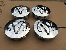 NEW SET OF 4 DODGE RAM DURANGO DAKOTA CARAVAN CHROME WHEEL HUB CAPS 52013985AA