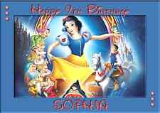 Disney Princess Snow White A5 personalised birthday card sister niece name age