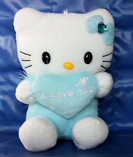 "Hello Kitty Plush with Heart ""I Love You"" 6.5 Inches Blue"