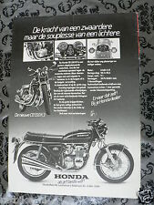 A153-POSTER HONDA CB550 K3 MODEL MOTORCYCLE 1978 ADVERTISEMENT ADD