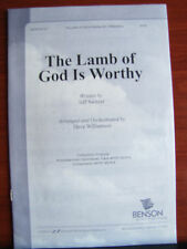 The Lamb of God is Worthy - 1998 sheet music - SATB vocal, piano, guitar chords