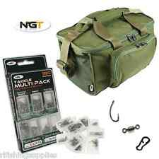 NGT Carp Fishing Green Carryall Holdall Bag 537 + 180 Piece Terminal Tackle Set