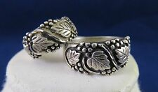 Rings Set_Silver Black Hills Gold_Size 5-3/4 & Size 10-1/2 (744)