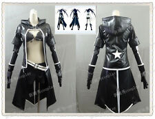 VOCALOID-Miku Black Rock Shooter Black Golden Saw cosplay costume UK