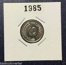 Singapore 1985 Year of the Ox Uncirculated 10 cents Coin  (Rare)