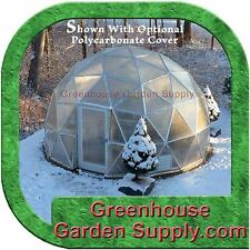 GREENHOUSE  GEO-DOME 16 FT. w/Marine Poly Cover for Hydroponic and Aquaponics