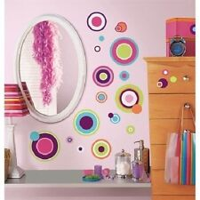 CRAZY POLKA DOTS wall stickers 31 decals Circles teen Dorm scrapbook