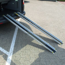 120cm o. 210cm aluminum wheelchair Ramp Telescopic Rolli rails NEW