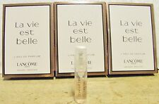 LANCOME LA VIE EST BELLE '3' X 1.5 ML EDP SPRAY VIALS+VELVET TOTE BAG NEW